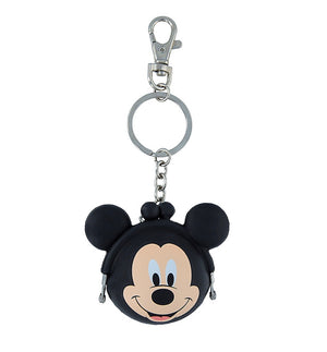 Disney Parks Mickey Mouse Coin Purse Silicone Keychain New with Tags