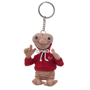 "Universal Studios Extra Terrestrial E.T. Red Hoodie 6"" Plush Keychain New w Tags"