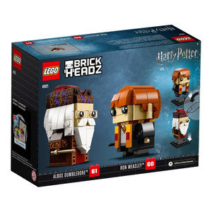 Lego Harry Potter Ron Weasley & Albus Dumbledore 245 Pieces 41621 BrickHeadz New with Box