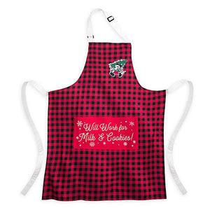 Disney Parks Yuletide Farmhouse Mickey Mouse Holiday Apron New with Tag