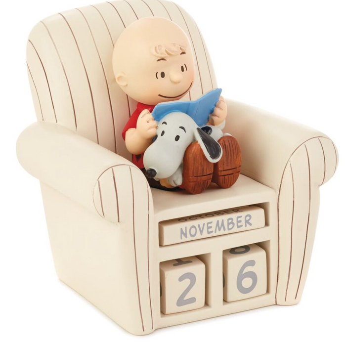 Hallmark Peanuts Charlie Brown Chair and Snoopy Perpetual Calendar New