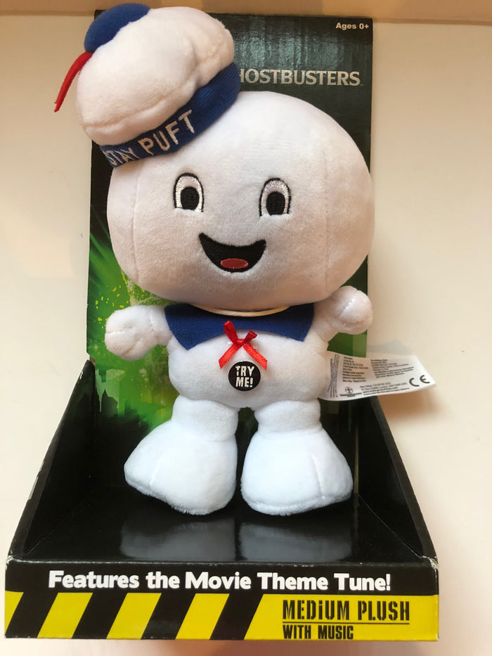Universal Studios Ghostbuster Stay Puft Medium Plush with Music New with Box