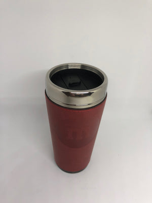 M&M's World Red Lentil Vegan Leather Travel Tumbler New