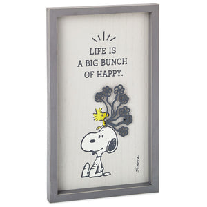 Hallmark Peanuts Snoopy and Woodstock Bunch of Happy Framed Wall Art New