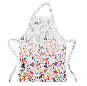 Disney Parks Ink & Paint Cotton Adult One Size Apron New with Tags