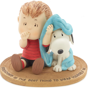Hallmark Peanuts Linus and Snoopy Wrapped in Friendship Mini Figurine New