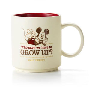 Hallmark Disney Mickey Mouse Who Says We Have to Grow Up ? Coffee Mug 12 oz. New