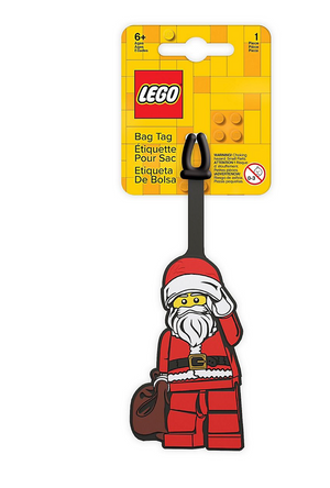 Lego Christmas Santa Silicone Luggage Bag Tag New with Tags