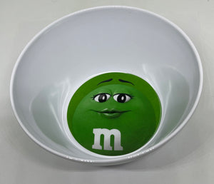 M&M's World Green Character Logo Big Face Bowl New