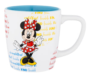Disney Parks Minnie Mouse Lovable Personality Ceramic Coffee Mug New