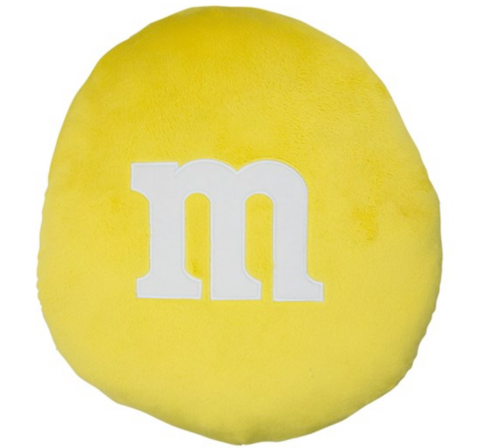 M&M's World Yellow Pillow M New with Tags