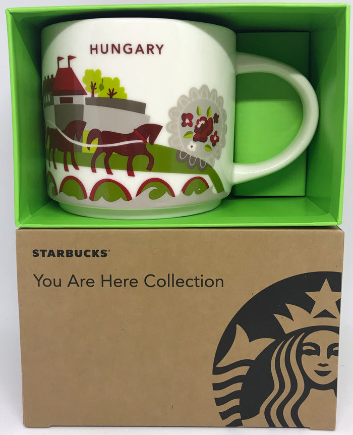 Starbucks You Are Here Collection Hungary Ceramic Coffee Mug New W Box