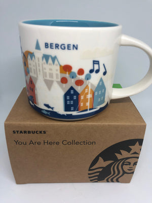 Starbucks You Are Here Collection Norway Bergen Ceramic Coffee Mug New with Box