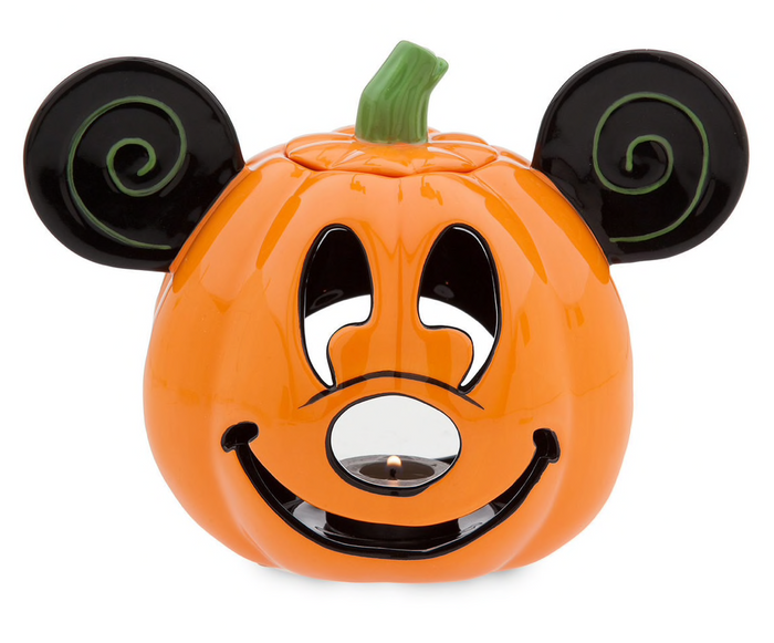 Disney Happy Halloween Mickey Pumpkin Votive Candle Holder Bougeoir New