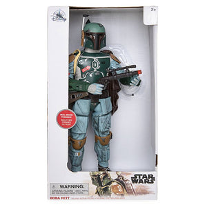 "Disney Star Wars Boba Fett Talking Action Figure 13 1/2"" inc New with Box"