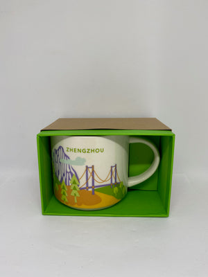 Starbucks You Are Here Collection Zhengzhou China Ceramic Coffee Mug New w Box