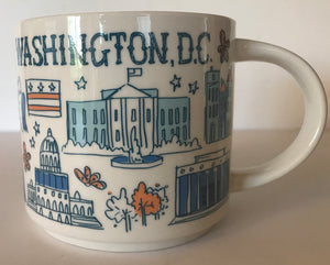 Starbucks Been There Series Collection Washington D.C. Coffee Mug New With Box