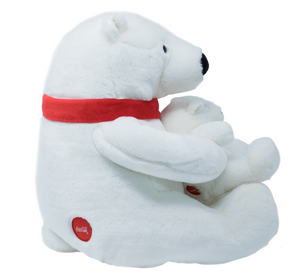 Authentic Coca-Cola Coke Polar Bear with Cub Plush 12 inc New with Tag