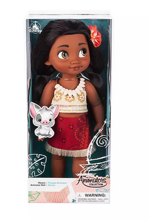 Disney 2019 Animators' Collection Moana with Pua Doll New with Box