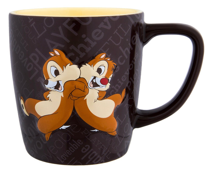Disney Parks Chip 'n Dale Personality Ceramic Coffee Mug New