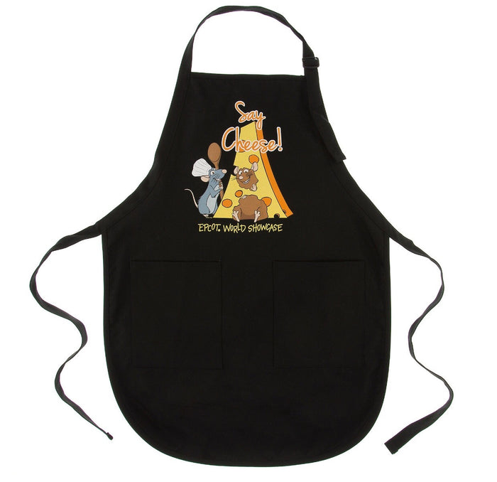 disney parks epcot france ratatouille remy say cheese kitchen apron new with tags