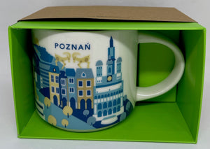 Starbucks You Are Here Collection Poznan Poland Ceramic Coffee Mug New Box