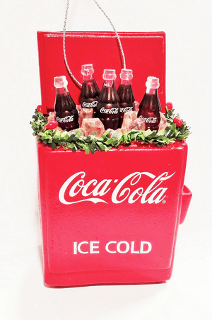 Authentic Coca Cola Coke Cooler Christmas Ornament New with Tags