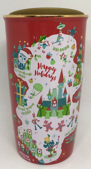 Disney Parks Starbucks Holiday Map Coffee Tumbler Mug New