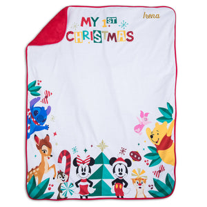 Disney Mickey Mouse and Friends Blanket and Hat Set for Baby Holiday Christmas