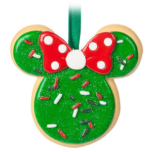 Disney Parks Minnie Mouse Bow Sugar Icing Cookie Christmas Ornament New With Tag
