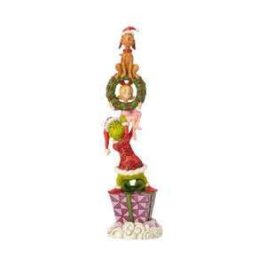 Jim Shore Stacked Grinch Characters Christmas Figurine New with Box