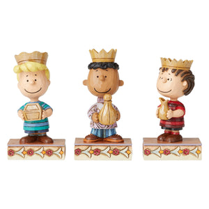 Jim Shore Peanuts Christmas Pageant Set Three Wise Men Figurine New with Box