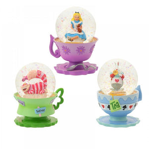 Disney Store Japan 25th Alice in Wonderland Snow Globe Set New with Box
