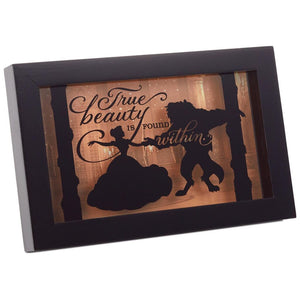 Hallmark Disney Beauty and the Beast Silhouette Framed Art New