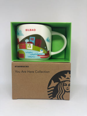 Starbucks You Are Here Bilbao Spain Ceramic Coffee Mug New with Box