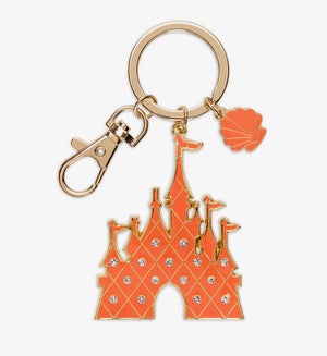 Disney Parks Ariel Castle Metal Keychain New with Tags
