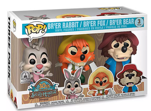 Disney Parks Br'er Rabbit Fox Bear 30th Splash Mountain Funko New with Box