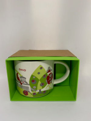 Starbucks You Are Here Collection Ohio Ceramic Coffee Mug New with Box