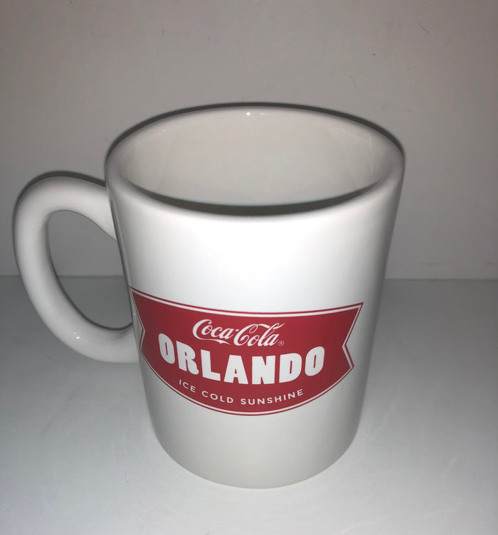 Authentic Coca-Cola Coke Ice Cold Sunshine Orlando Ceramic Coffee Mug New