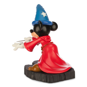 disney parks mickey mouse sorcerer light up hat statue figurine new