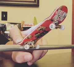 fingerboard trucks in action