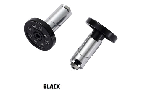 metal alloy bar ends envy scooters black