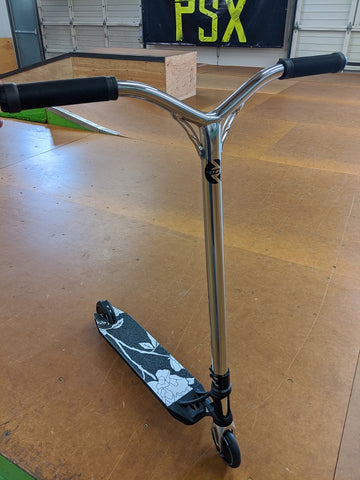 custom pro scooter ethic lucky black white chrome