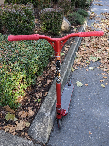 Custom Pro Scooter - Red Menace 7 - Lucky Envy Fasen Ethic