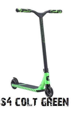 envy scooters s4 colt scooter green