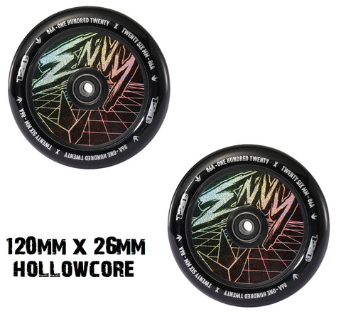 envy scooters classic scooter wheels 120mm hollowcore hologram