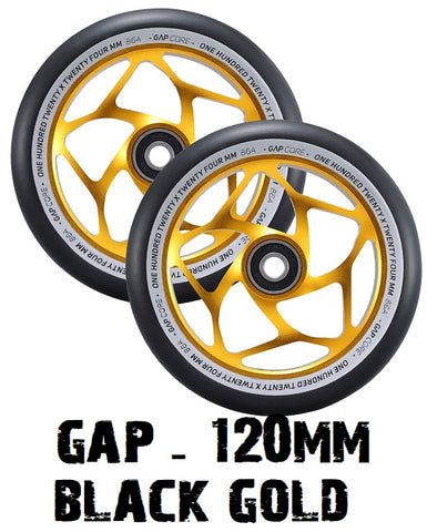 envy scooters gap scooter wheels 120mm black gold