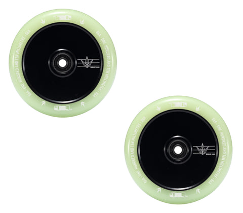 envy scooters wheels 110mm hollow core glow in the dark
