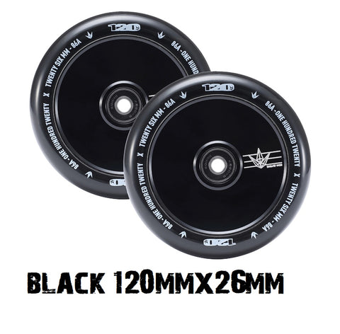 envy scooters hollow core wheels 120mmx26mm black