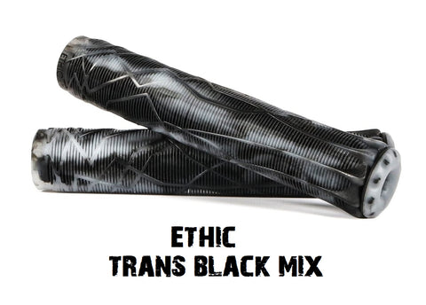 ethic scooter grips black transparent mix